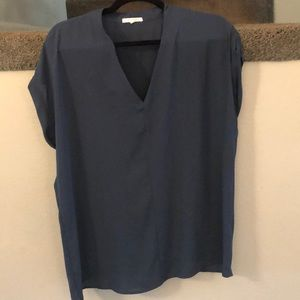 Pleione Nordstrom V Neck Blouse Top Shirt Green